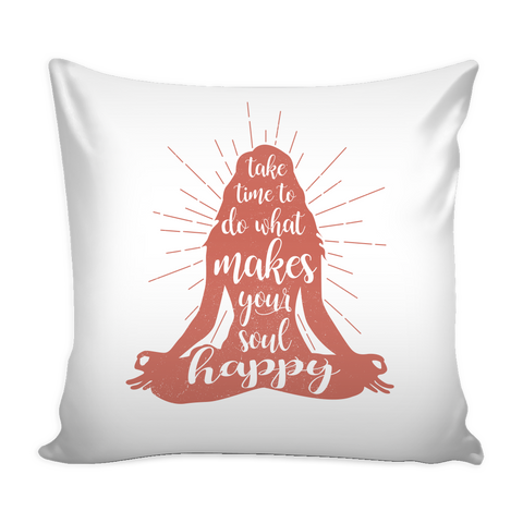 "Yoga - Yoga makes me happy - Pillow Cover 16""- TL00893PL"