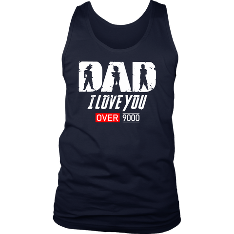 Super Saiyan Goku Vegeta Gohan Dad I Love You Over 9000 Unisex Tank Top - TL01707TT