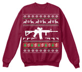 Christmas Sweatshirt- M4/AR15 Christmas -Unisex Sweatshirt - The TShirt Collection
