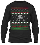 Christmas Long Sleeve- Cycling Christmas -Unisex  Long  Sleeve - The TShirt Collection