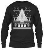 Christmas Long Sleeve- Oh, Chemist Tree -Unisex Long Sleeve - The TShirt Collection