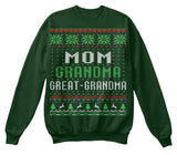Christmas Sweatshirt – Great-Grandma Christmas - Unisex Sweatshirt - The TShirt Collection