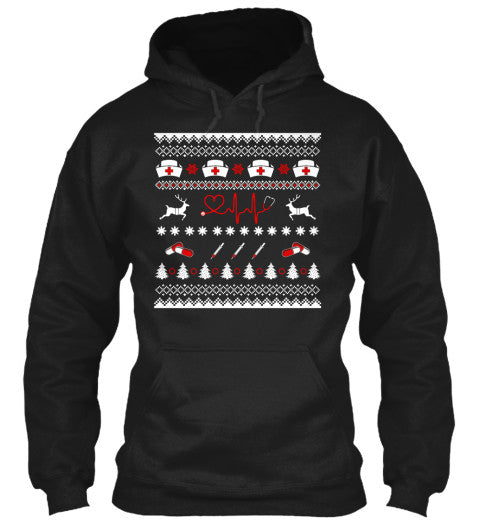 Christmas Hoodie - Nurse Christmas - Unisex Hoodie - The TShirt Collection