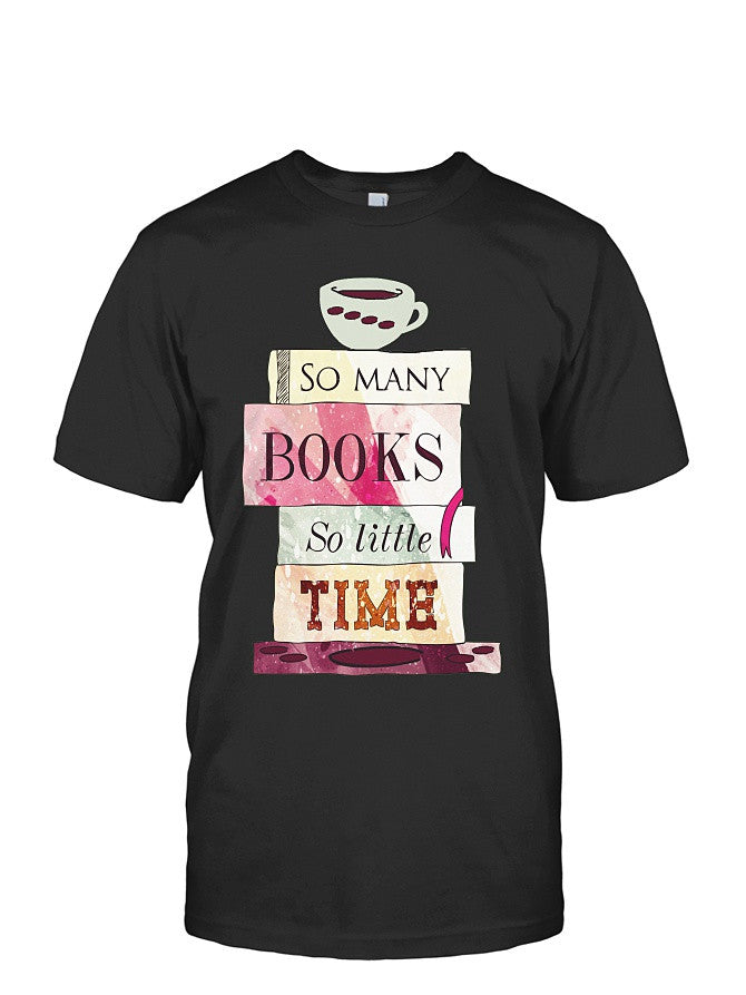 Book Short Sleeve - so many book so little time -Men Short Sleeve T Shirt - SSID2016