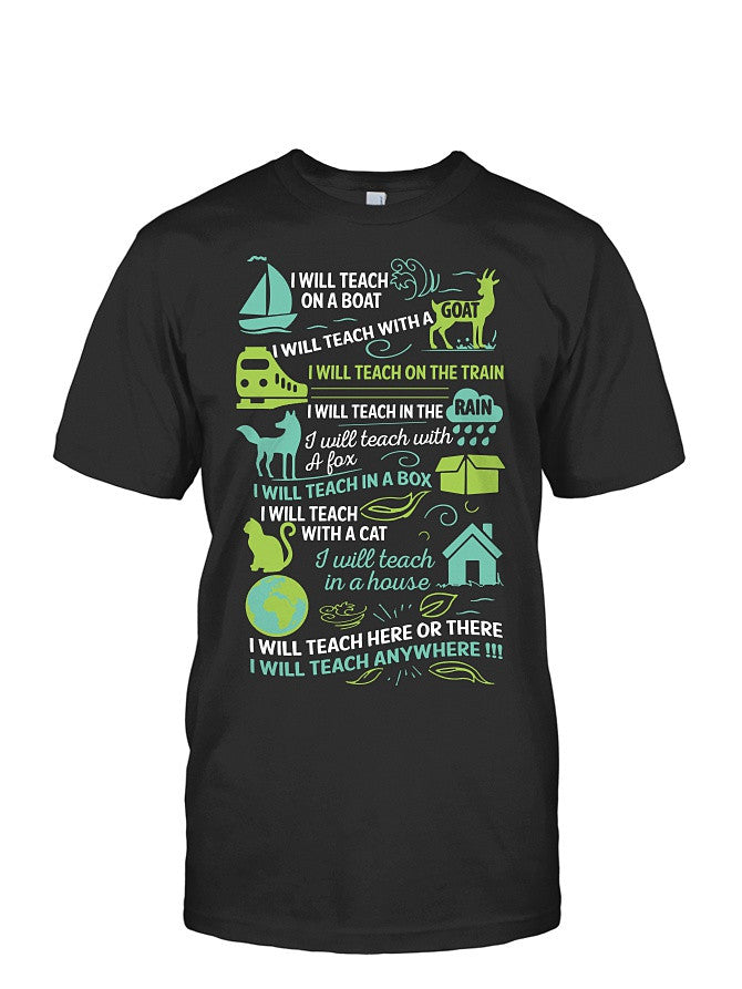 Book Short Sleeve - I will Teach on a boat , i will teach with a goat-Men Short Sleeve T Shirt - SSID2016