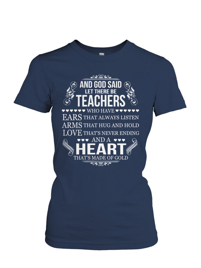 Book Short Sleeve - GOD SAID LET THERE BE TEACHERS -Women Short T Shirt - The TShirt Collection