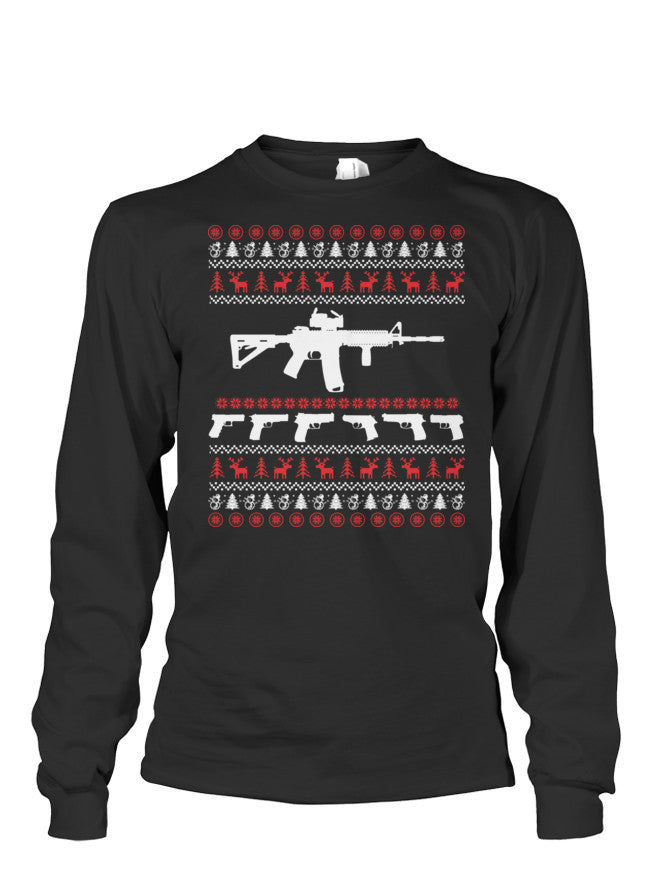 Christmas Long Sleeve- AR 15 -Unisex Long Sleeve - The TShirt Collection