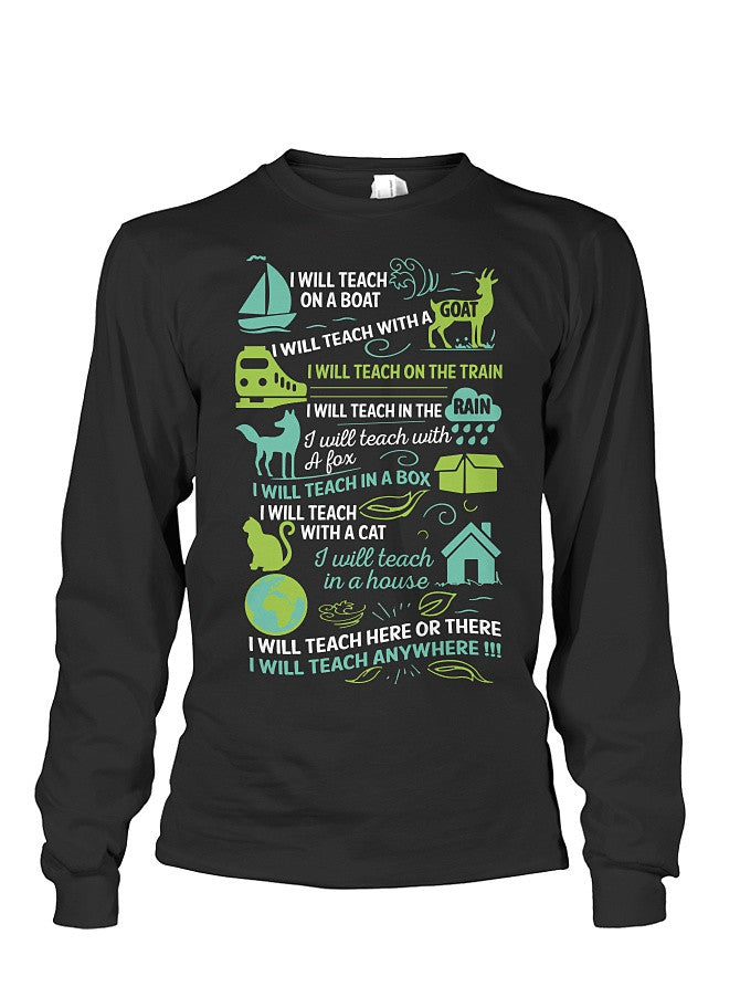 Book Long Sleeve- i will teach on a boat , i will teach with a goat -Unisex Long Sleeve - SSID2016