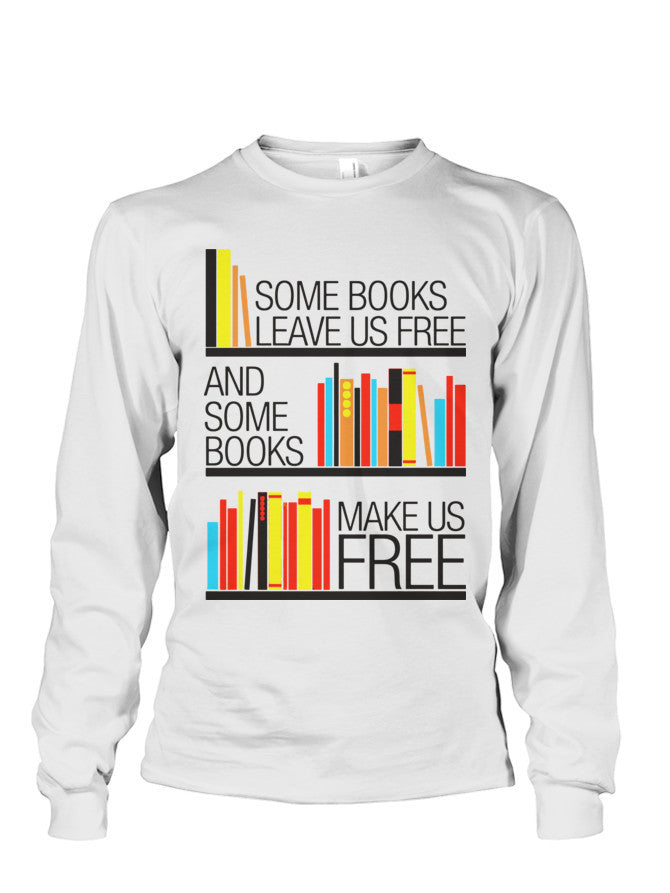 Christmas Long Sleeve- BOOKS LEAVE US FREE - BOOKS MAKE US FREE -Unisex Long Sleeve - The TShirt Collection