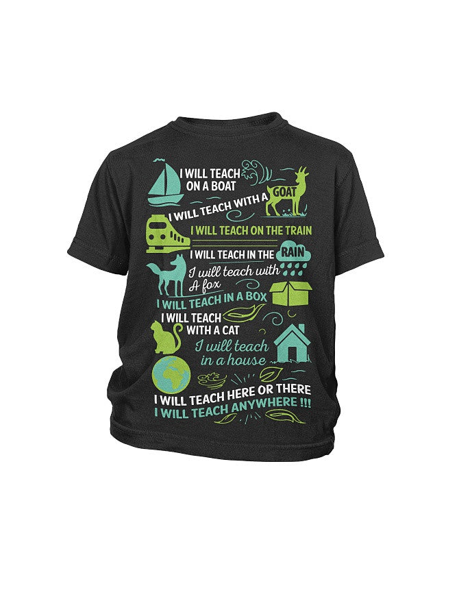Book Youth Shirt- I will Teach on a boat , i will teach with a goat -District Youth Shirt - SSID2016
