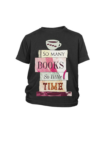 Book Youth Shirt- so many book so little time-District Youth Shirt - SSID2016