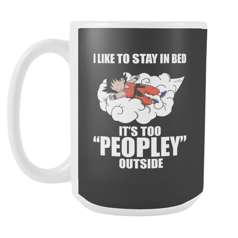 Super Saiyan - I Like to stay in bed - 15oz Coffee Mug - TL01212M5