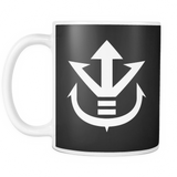 Super Saiyan - White Vegeta Saiyan Crest 11oz Coffee Mug - TL00012M1