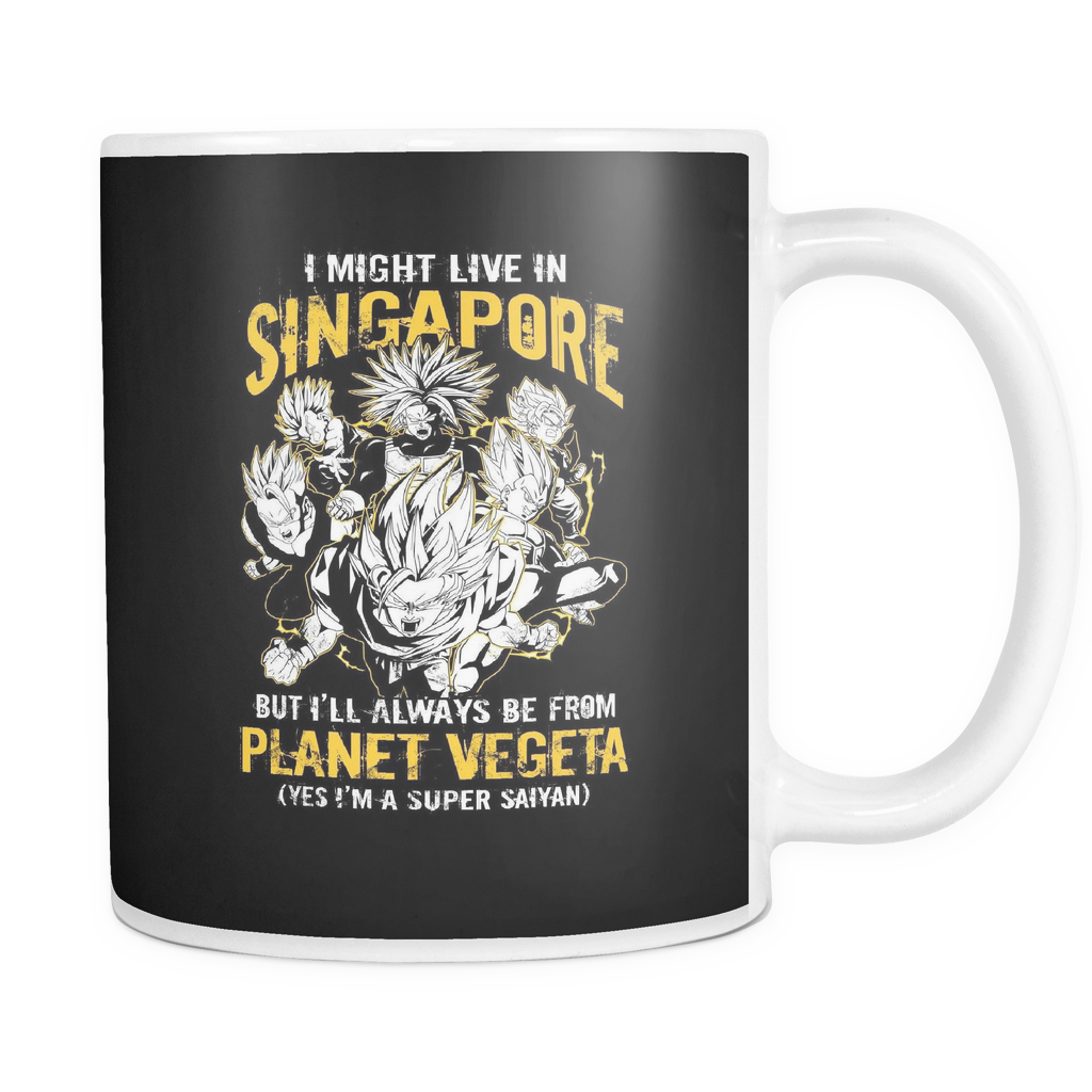 Super Saiyan I May Live In Singapore 11oz Coffee Mug- TL00114M1