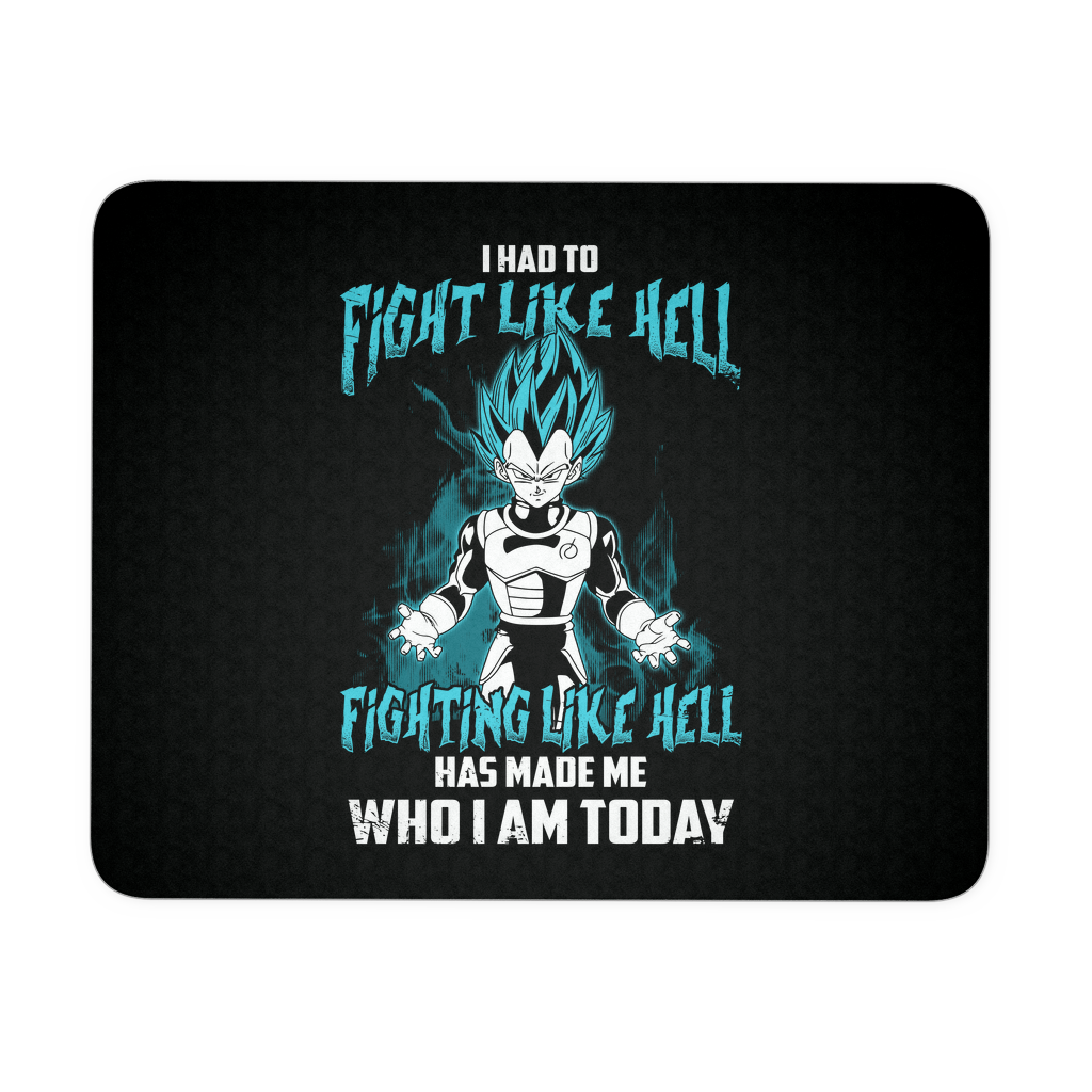 Super Saiyan - Vegeta God Blue Fight Like Hell - Mouse Pad  - TL00816MP