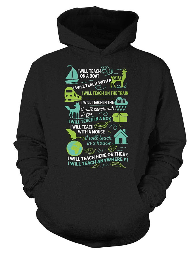 Christmas Hoodie-I will Teach on a boat , i will teach with a goat -Unisex Hoodie - The TShirt Collection