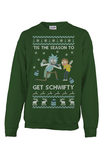 Christmas Sweatshirt- Tis the season to get schwifty -Unisex Sweatshirt - The TShirt Collection
