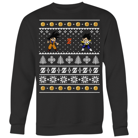 Super Saiyan - Goku Vs Vegeta Ugly Xmas Sweater - Unisex Sweatshirt T Shirt - TL01691SW