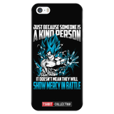 Super Saiyan Goku God Show Mercy in Battle iPhone 5, 5s, 6, 6s, 6 plus, 6s plus phone case - TL00439PC-BLACK
