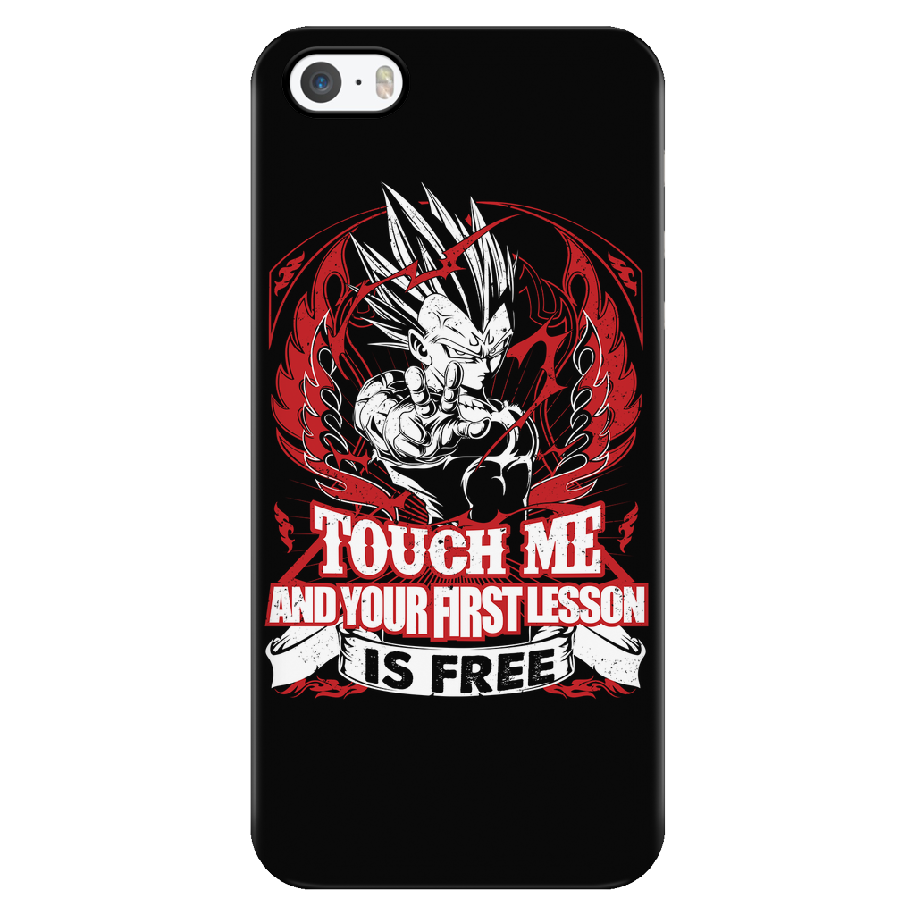 Super Saiyan Vegeta First Lesson iPhone 5, 5s, 6, 6s, 6 plus, 6s plus phone case - TL00130PC-BLACK