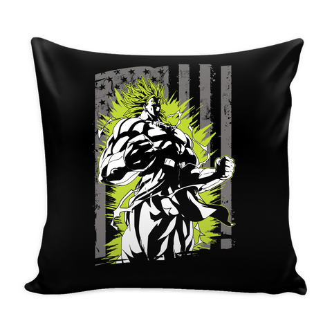 American Super Saiyan Broly Pillow Cover 16''- TL00001PL - The TShirt Collection