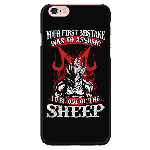 Super Saiyan Majin Vegeta - Your First Mistake Was To Assume I'd Be One Of The Sheep - Iphone Phone Case - TL01236PC