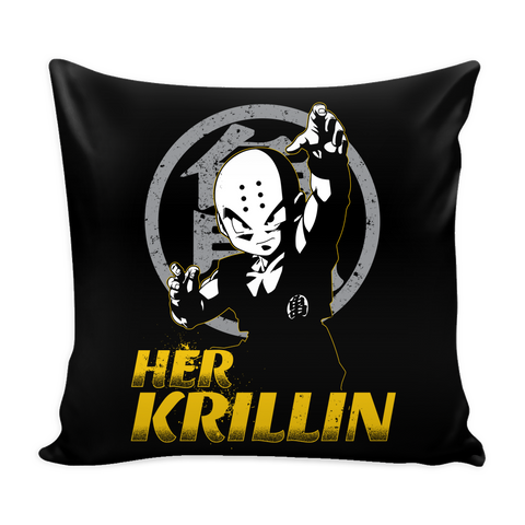 "Super Saiyan Krillin Father And Daughter Pillow Cover 16"" - TL00522PL"