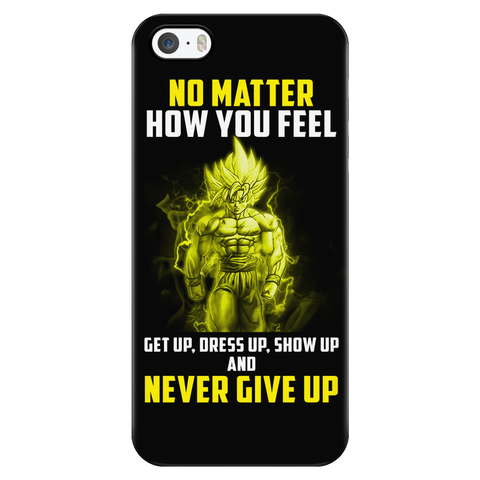 Super Saiyan - Goku Never give up - Iphone Phone Case - TL01068PC