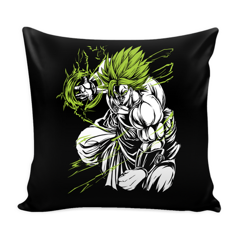 "Legendary Super Saiyan Broly Monster Pillow Cover 16"" -TL00008PL"
