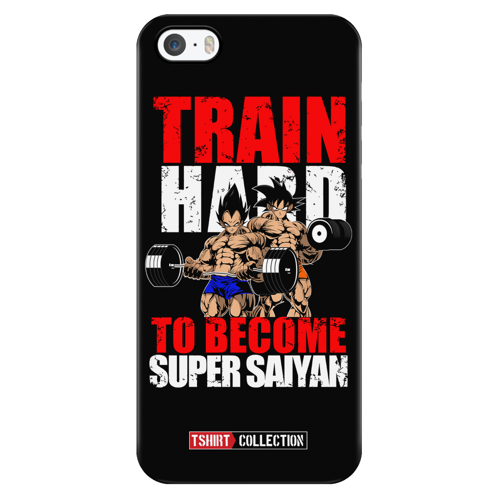 Super Saiyan Vegeta and Goku Gym Train Hard iPhone 5, 5s, 6, 6s, 6 plus, 6s plus phone case - TL00442PC-BLACK