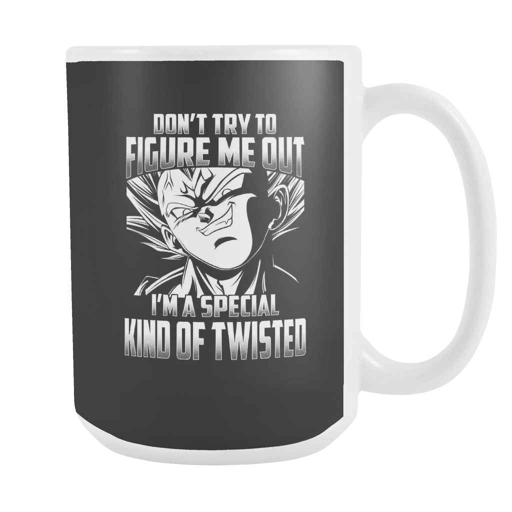 Super Saiyan Majin Vegeta Kind of Twisted 15oz Coffee Mug - TL00434M5