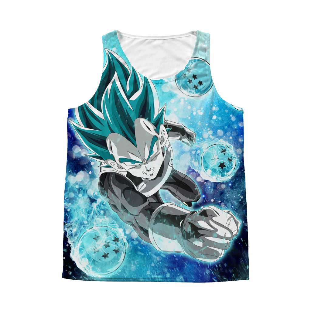 Super Saiyan - Vegeta SSj Blue with dragon balls - All Over Print Tank Top - TL01180AT