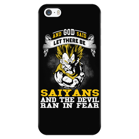 Super Saiyan - Saiyan and the devil ran in fear - Iphone Phone Case - TL01184PC