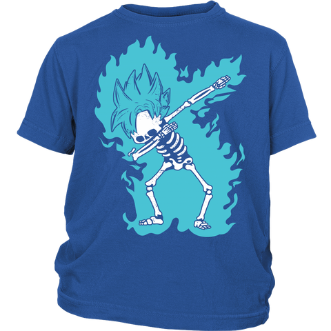 Super Saiyan - Goku God Dab Skeleton X Ray Costume - District Youth Kid Shirt - TL01418YS