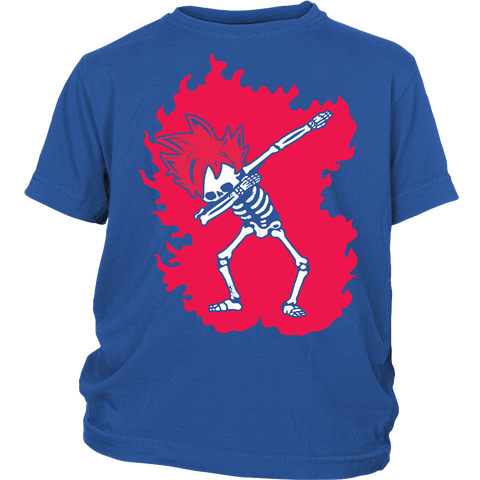Super Saiyan - Goku God Dab Skeleton X Ray Costume - Youth Kid Shirt - TL01424YS