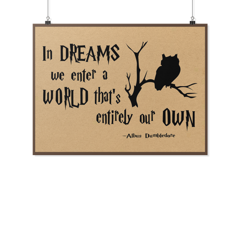 Harry Potter- In Dream we enter a world -Poster 18x24