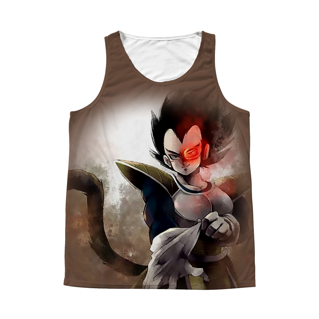 Super Saiyan Vegeta 1 Sided 3D tank top t shirt - TL00362AT