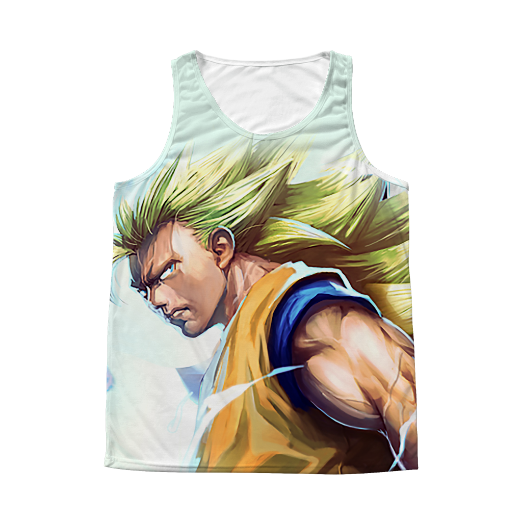 Super Saiyan Goku 1 Sided 3D tank top t shirt Tank - TL00403AT