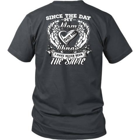 Family Shirt - Since the day my mom got her wings limited -Men Short Sleeve T Shirt - TL01683SS
