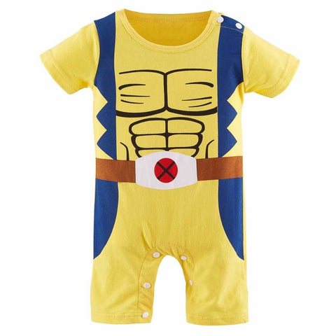 Baby Boys Girls Superhero Romper Infant Costume Funny Jumpsuit Toddler Carnival Party Fancy Dressing Up Cos