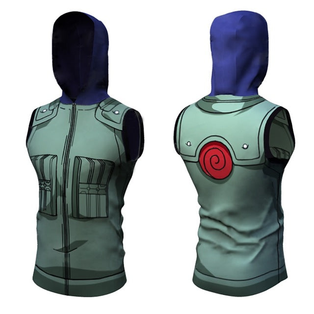 3D Naruto Top Hoodie Sleeveless Shirts Costume
