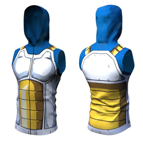 3D Super Saiyan Top Hoodie Sleeveless Shirts Costume