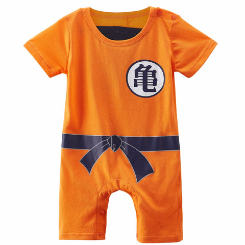 Baby Boys Goku Romper Dragon Ball Z Costume Short Sleeve 0-24M