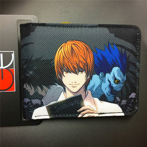Death Note canvas man wallets game series Gears of War Saint Seiya famous brand card holder