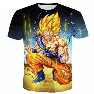Dragon Ball Super Z 3D Print T-shirt Goku Super Saiyan Tshirt Casual Japanese Popular Anime t shirt