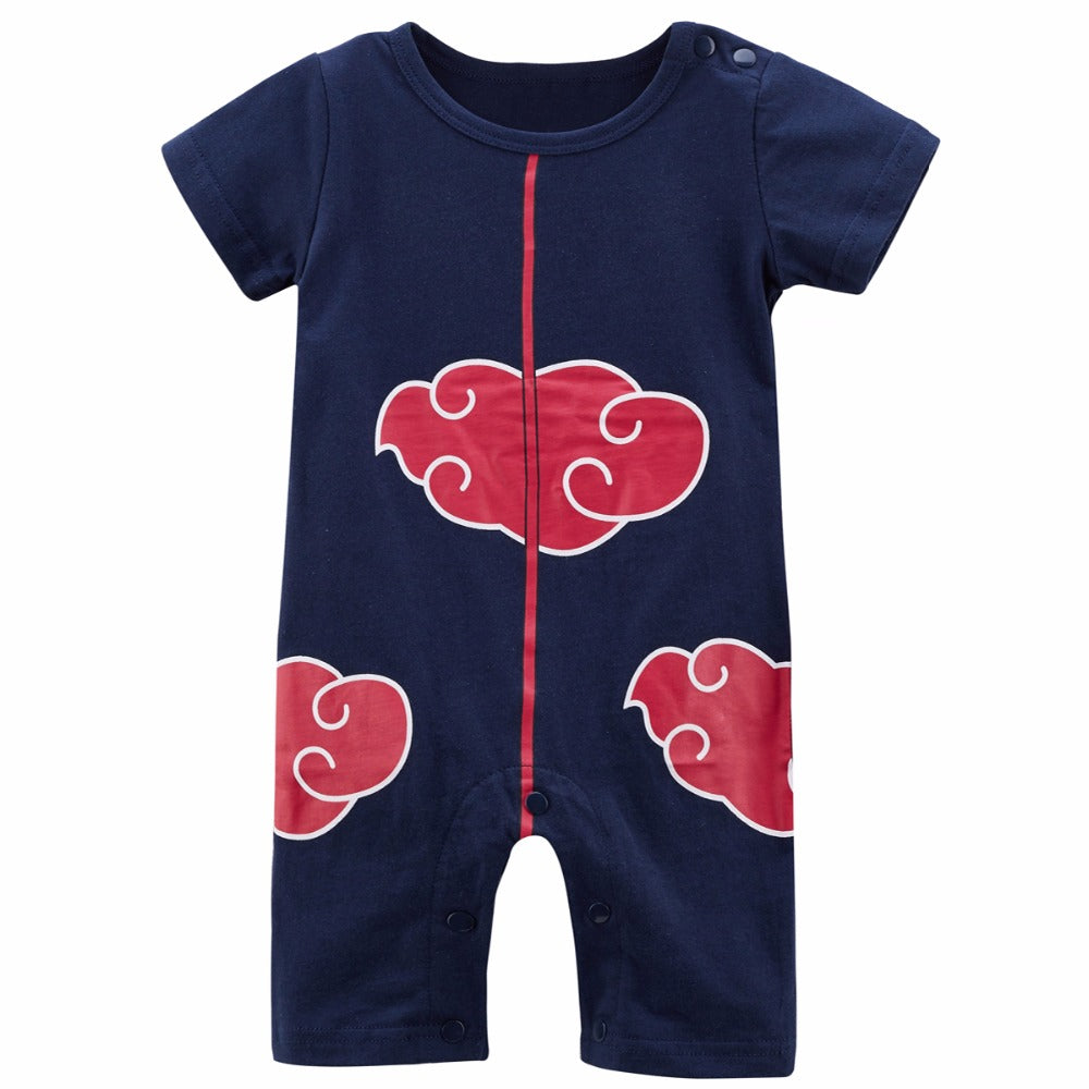 Baby Boy Akatsuki Costume Romper Funny  Infant Playsuit Cute  0-24M