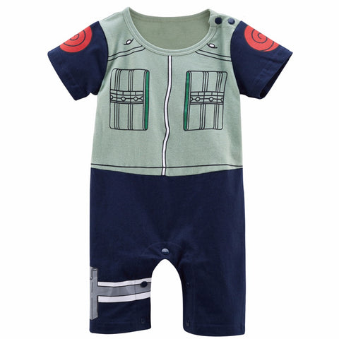 Newborn Baby Boy Hatake Kakashi Cute Costume Romper Funny Infant Playsuit 0-24M