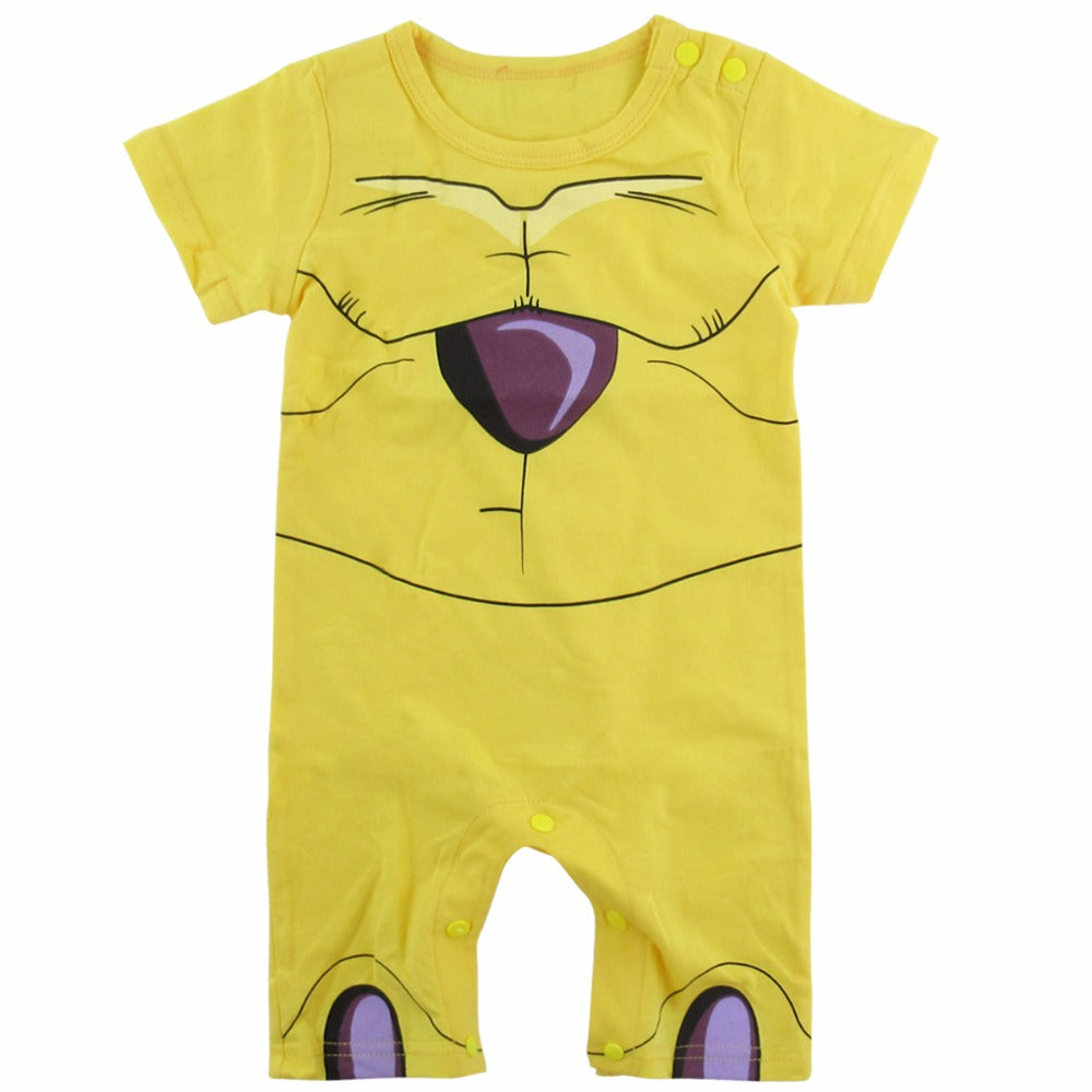 Baby Boy Gold Frieza Costume Romper Cute Infant Playsuit