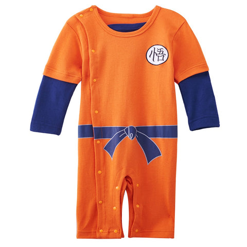 Baby Boys Goku Romper Dragon Ball Long Sleeve Playsuit Size 0-24M