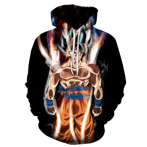 Super saiyan Ultra Instinct  Long Sleeve  Hoody Anime Outerwear 3D Hoodies Pullovers